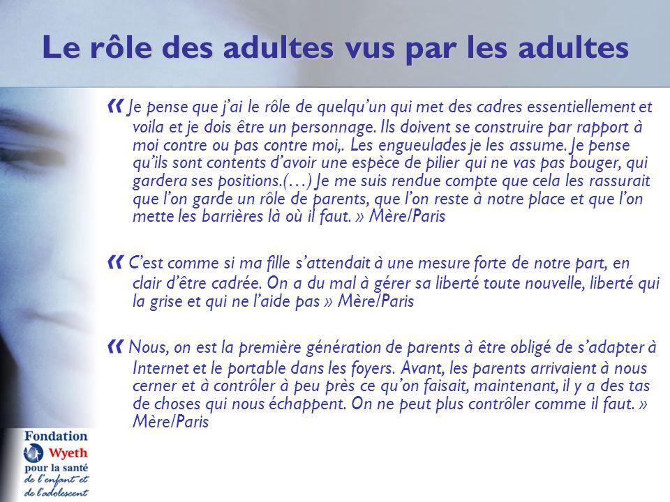 Le rôle des adultes vus par les adultes