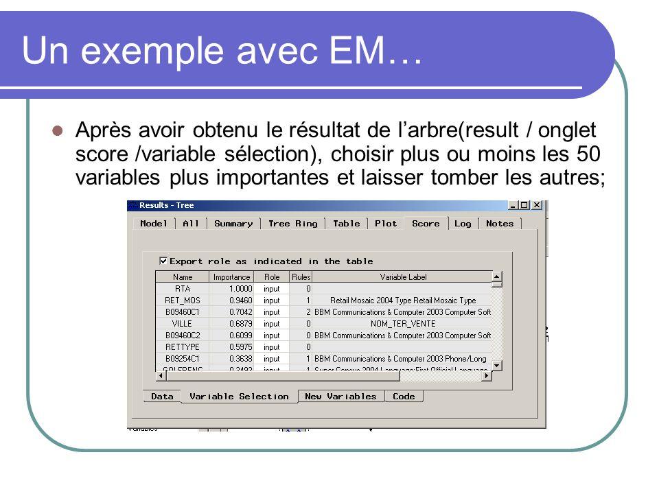 Un exemple avec EM…