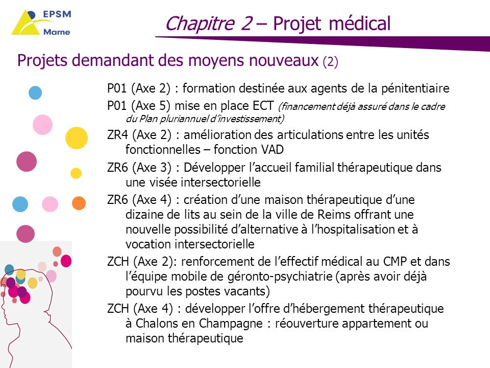 Projets demandant des moyens nouveaux (2)