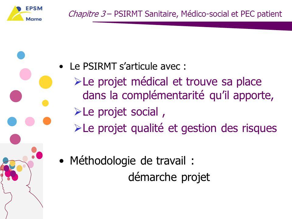 Le projet qualité et gestion des risques Méthodologie de travail :
