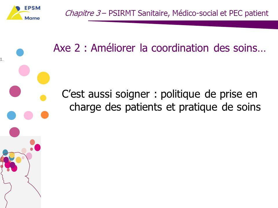 Axe 2 : Améliorer la coordination des soins…