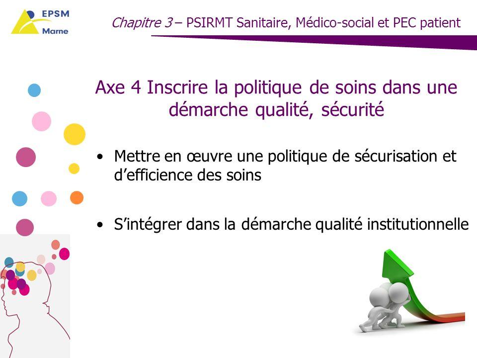 Chapitre 3 – PSIRMT Sanitaire, Médico-social et PEC patient