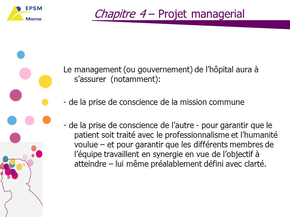 Chapitre 4 – Projet managerial