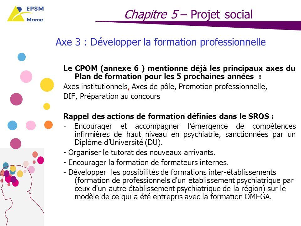 Axe 3 : Développer la formation professionnelle