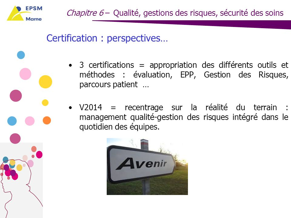 Certification : perspectives…