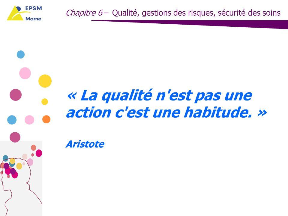 « La qualité n est pas une action c est une habitude. » Aristote