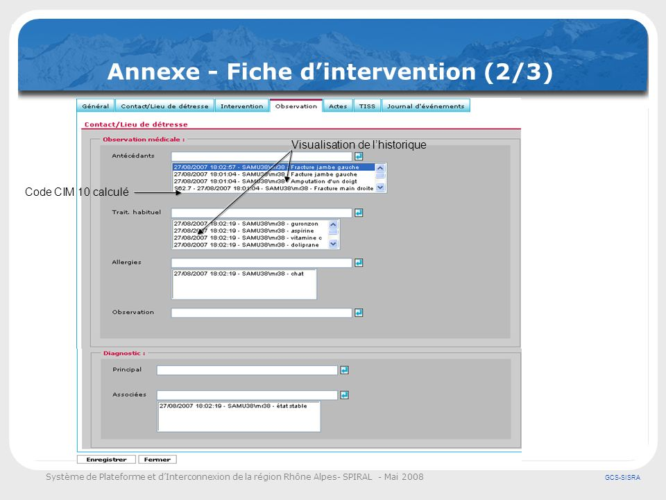 Annexe - Fiche d'intervention (2/3)