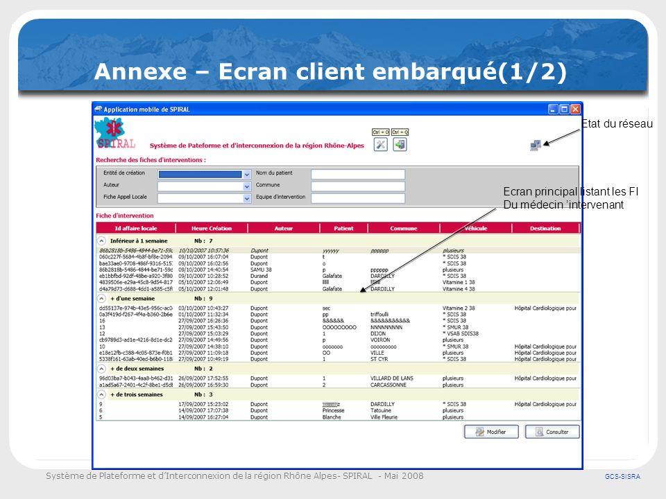 Annexe – Ecran client embarqué(1/2)