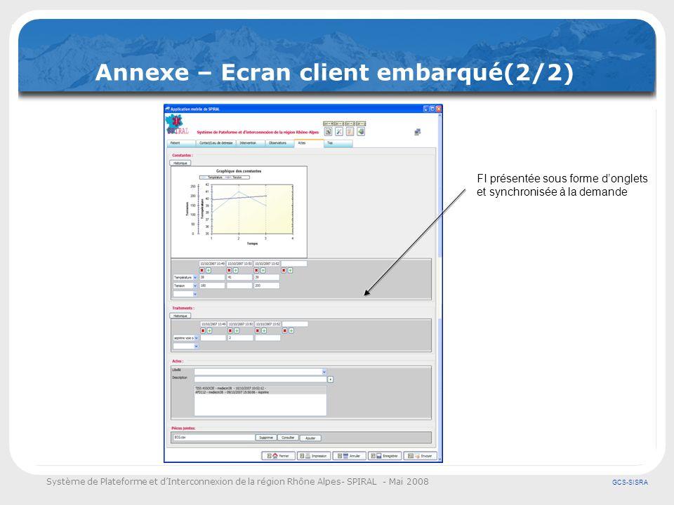 Annexe – Ecran client embarqué(2/2)