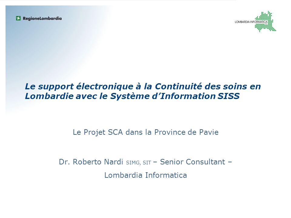 Le Projet SCA dans la Province de Pavie