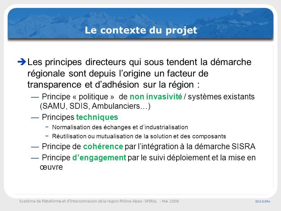 Le contexte du projet
