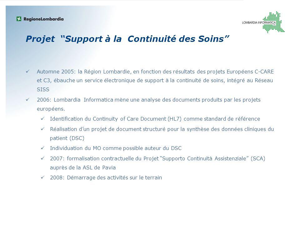 Projet Support à la Continuité des Soins