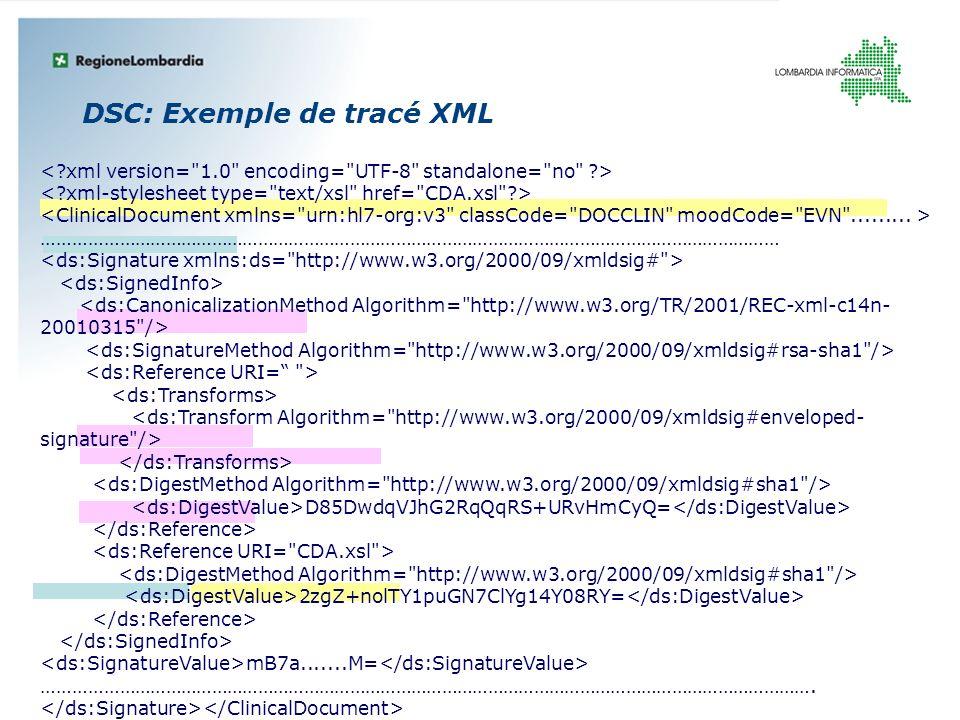 DSC: Exemple de tracé XML