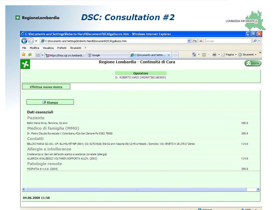 DSC: Consultation #2