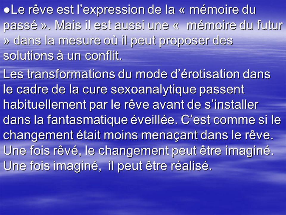 ●Le rêve est l'expression de la « mémoire du passé »