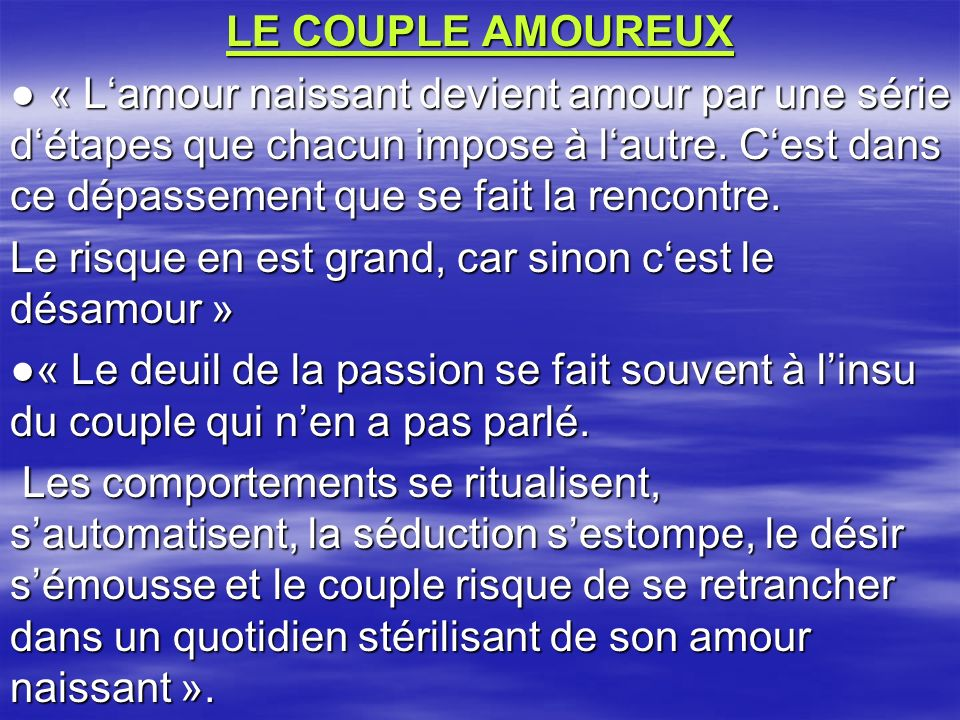 LE COUPLE AMOUREUX