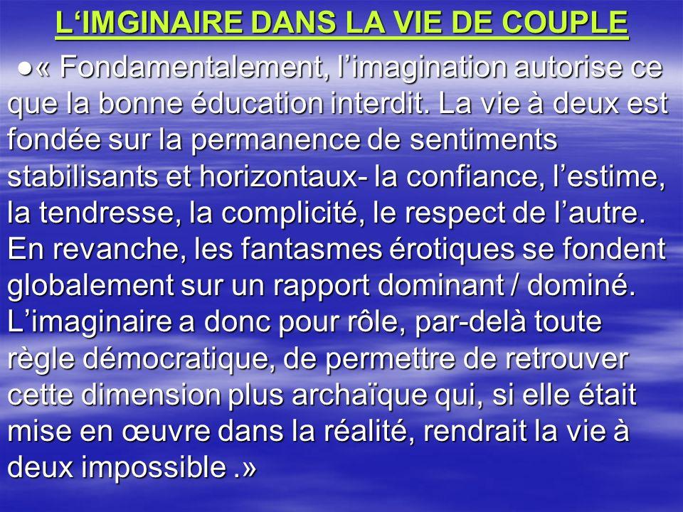 L'IMGINAIRE DANS LA VIE DE COUPLE