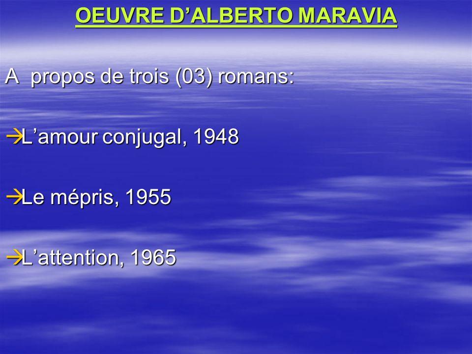 OEUVRE D'ALBERTO MARAVIA