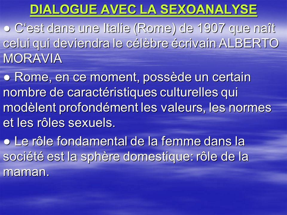 DIALOGUE AVEC LA SEXOANALYSE