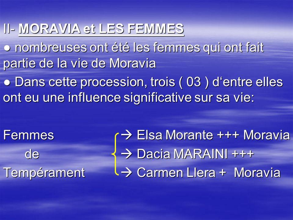 II- MORAVIA et LES FEMMES