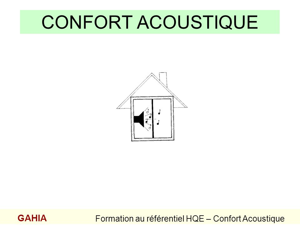 Formation au référentiel HQE – Confort Acoustique