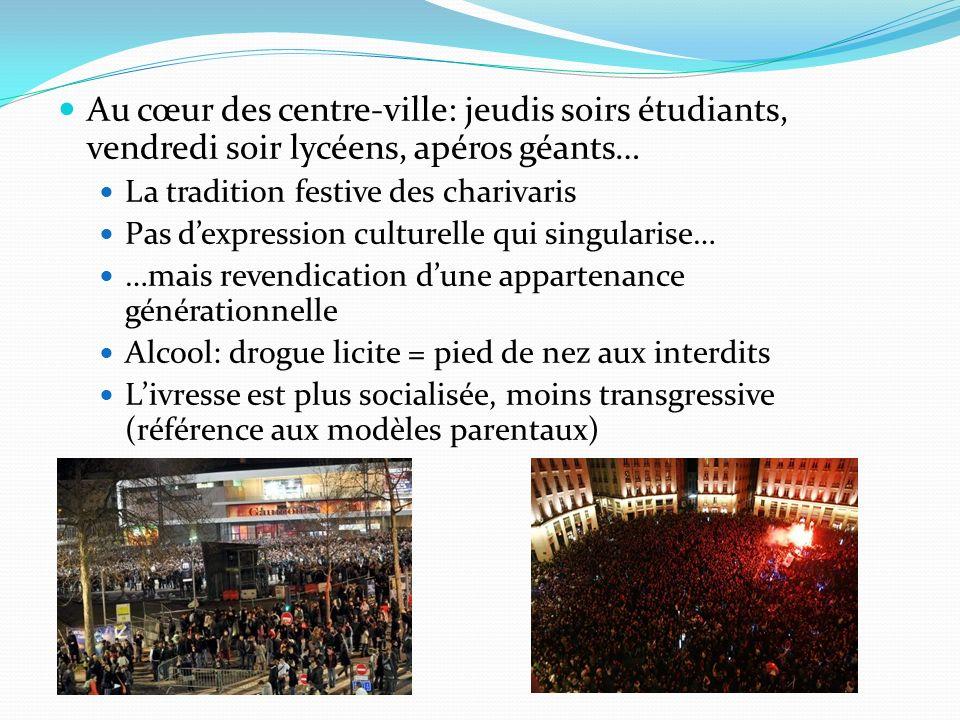 Au cœur des centre-ville: jeudis soirs étudiants, vendredi soir lycéens, apéros géants…