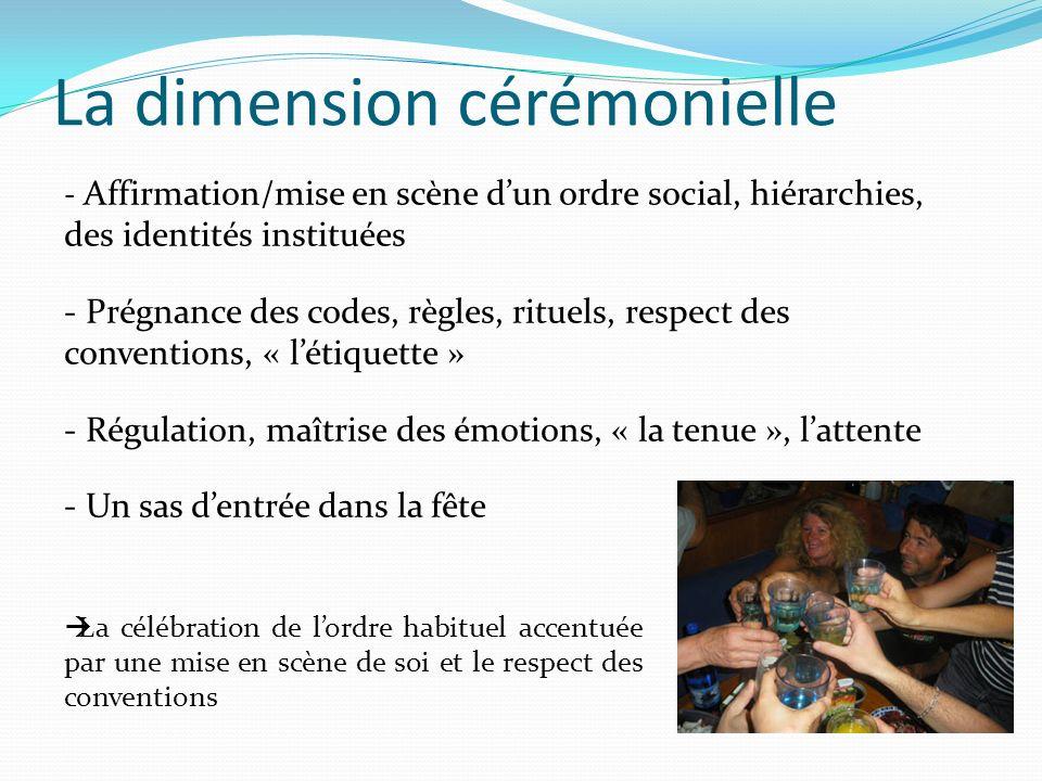 La dimension cérémonielle