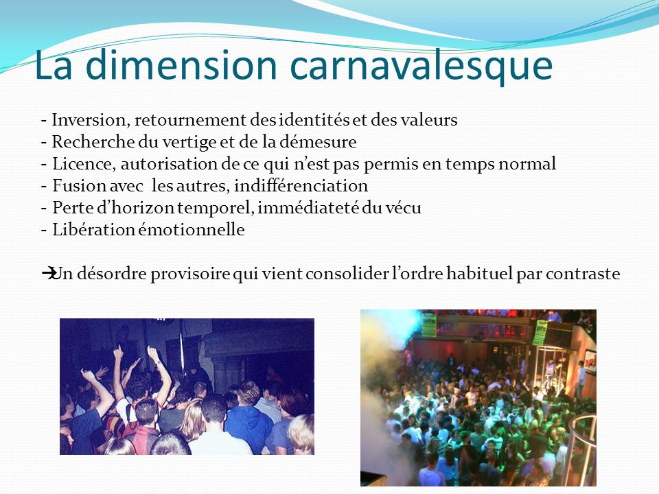 La dimension carnavalesque