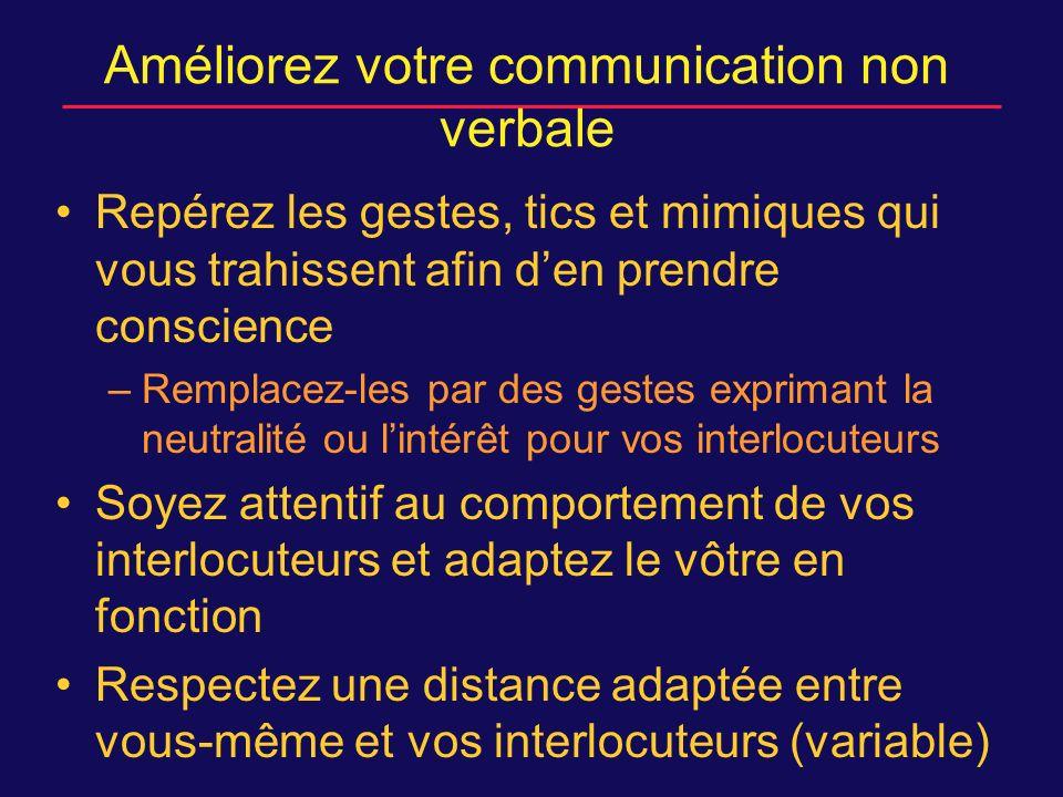 Améliorez votre communication non verbale