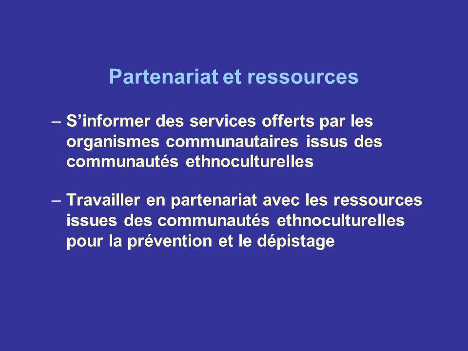 Partenariat et ressources