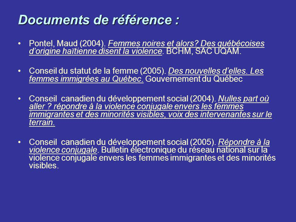 Documents de référence :
