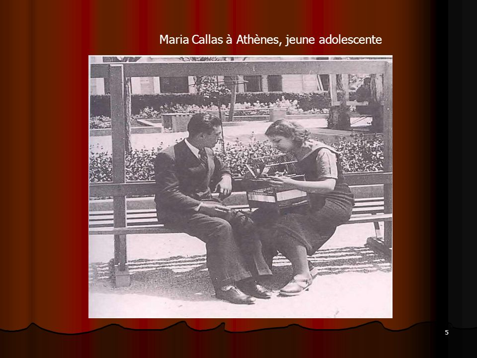 Maria Callas à Athènes, jeune adolescente
