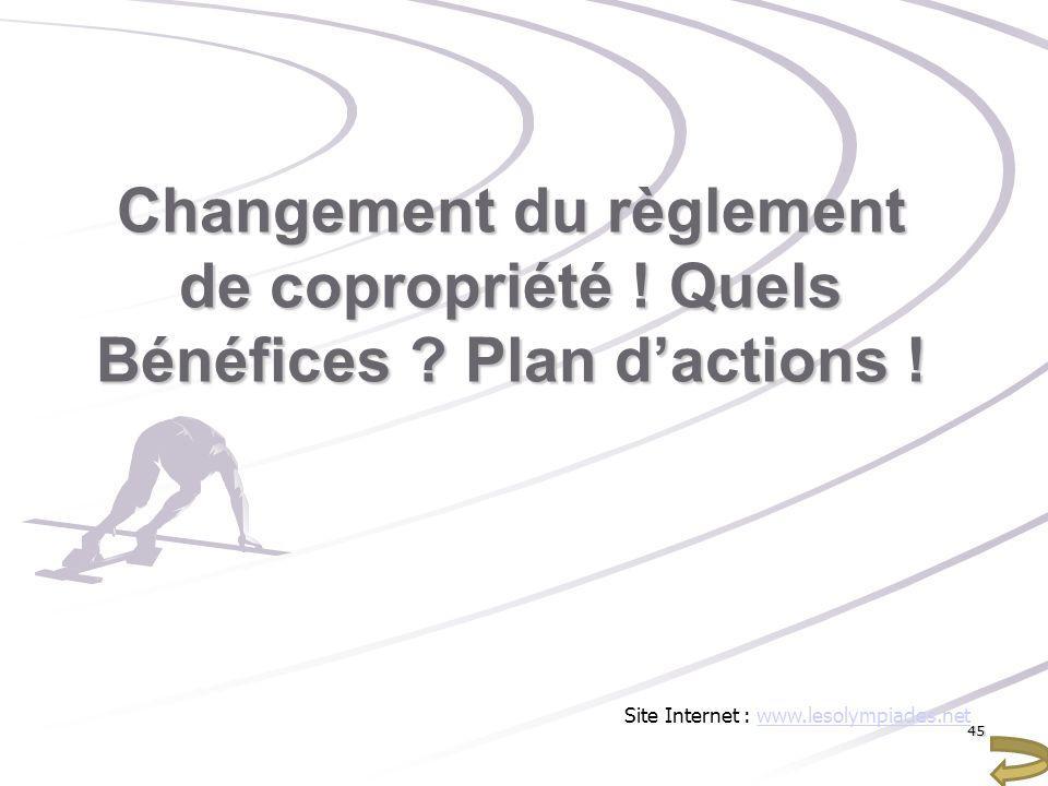 Changement du règlement de copropriété ! Quels Bénéfices Plan d'actions !