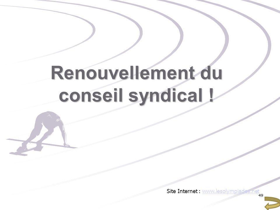 Renouvellement du conseil syndical !