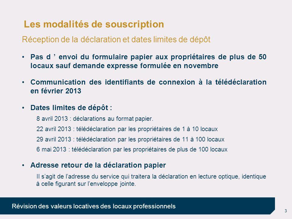 Les modalités de souscription