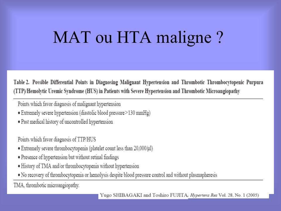 MAT ou HTA maligne