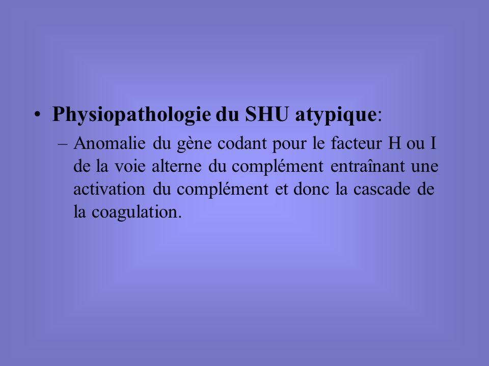 Physiopathologie du SHU atypique: