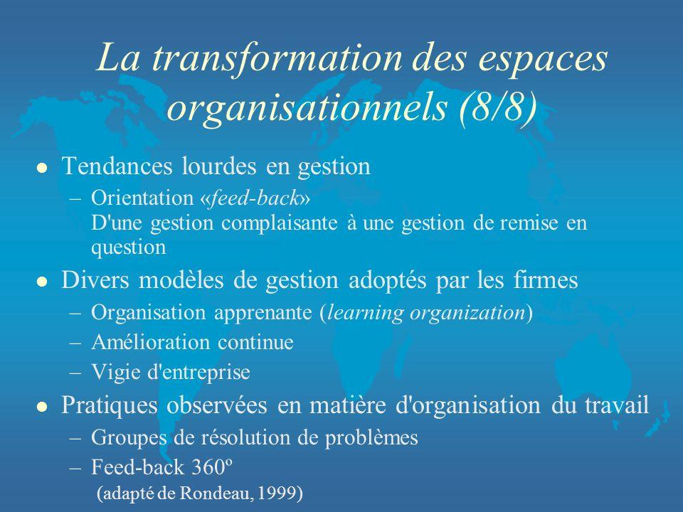La transformation des espaces organisationnels (8/8)