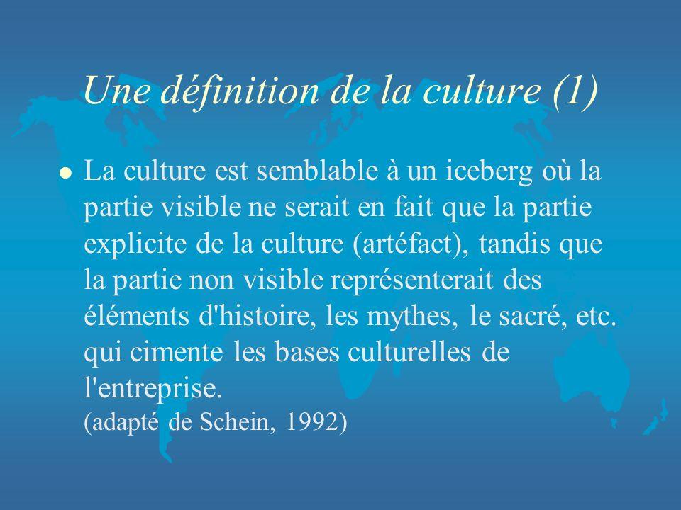 Une définition de la culture (1)