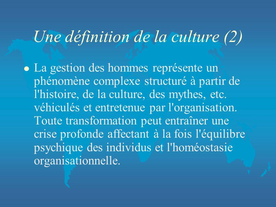 Une définition de la culture (2)