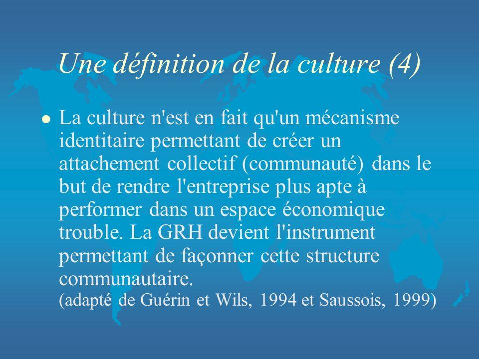 Une définition de la culture (4)