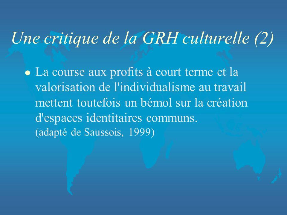 Une critique de la GRH culturelle (2)