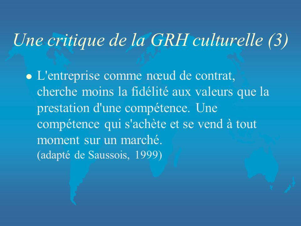 Une critique de la GRH culturelle (3)