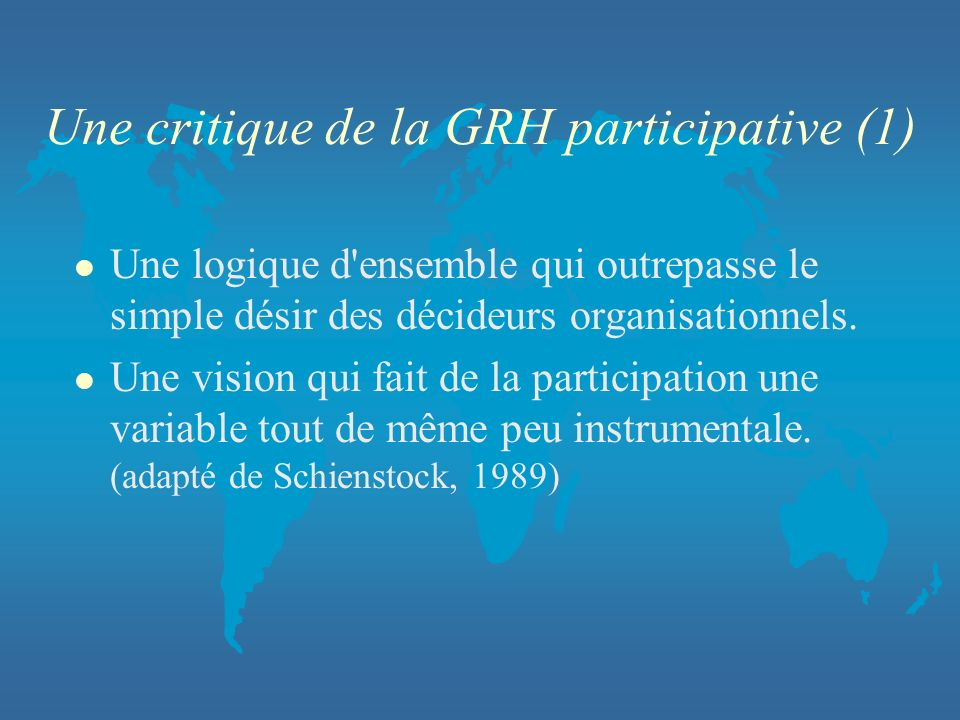 Une critique de la GRH participative (1)