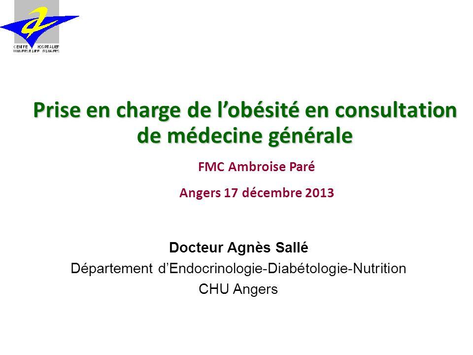 Prise en charge de l'obésité en consultation de médecine générale