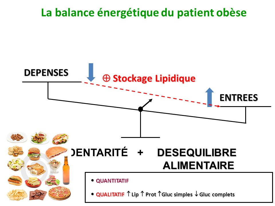 La balance énergétique du patient obèse