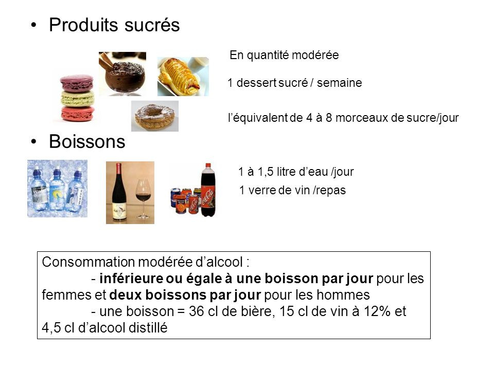 1 dessert sucré / semaine