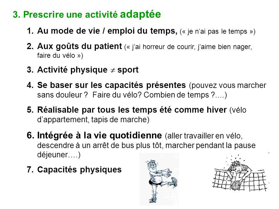 Prescrire une activité adaptée