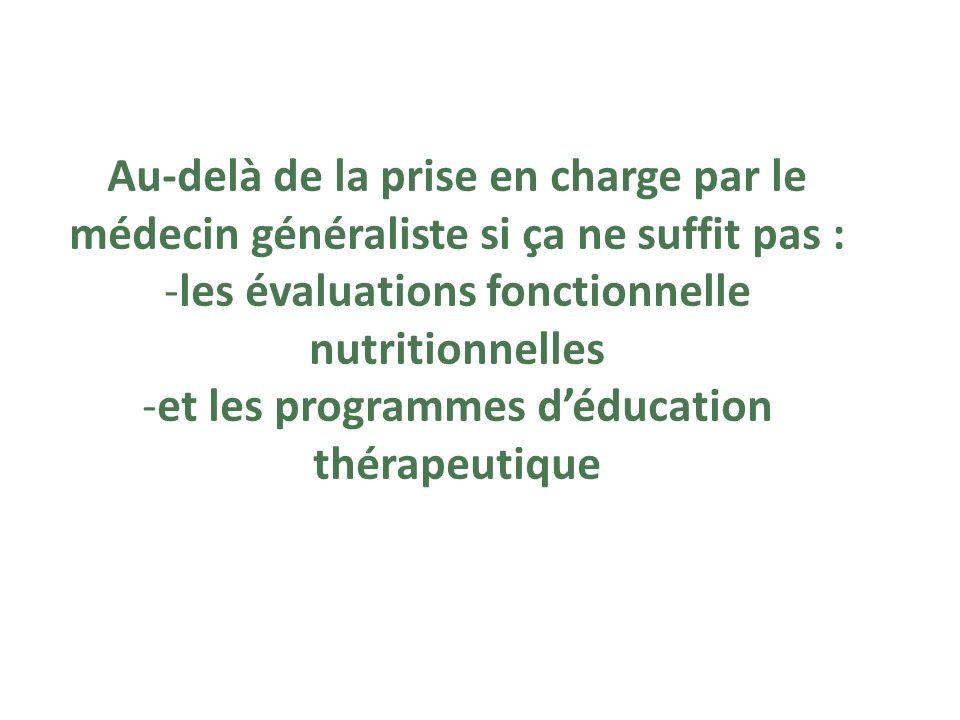 les évaluations fonctionnelle nutritionnelles