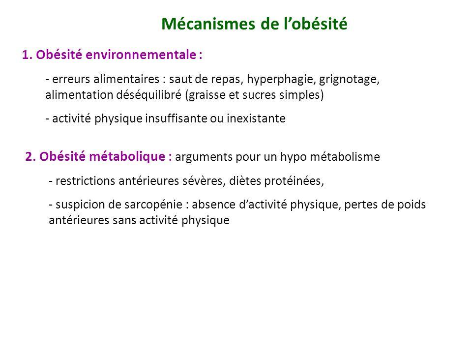 Mécanismes de l'obésité